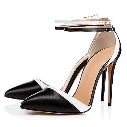 7b45f52d8a9e9 Amazon.com: FCXBQ Stiletto Pumps, High Heels Ankle Strap Buckle ...