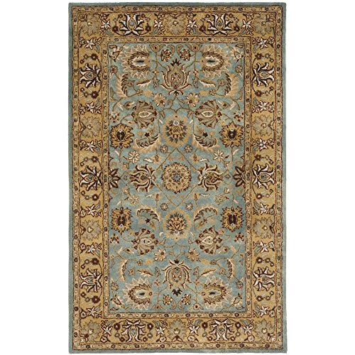 Safavieh Heritage Collection HG958A Handcrafted Traditional Oriental Blue and Gold Wool Area Rug (3' x 5')
