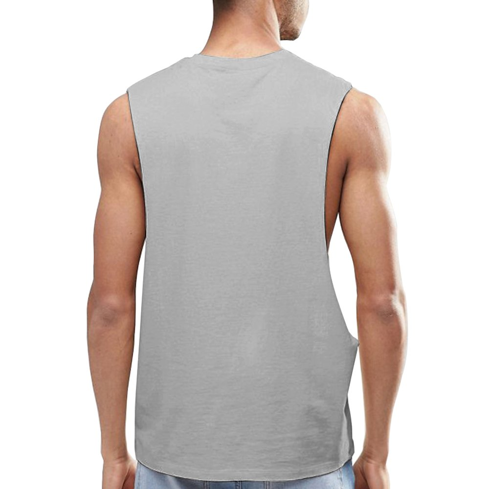 bf88d0159c OA ONRUSH AESTHETICS Men s Dropped Armhole Tank Tops Sleeveless Soft Touch  Vest at Amazon Men s Clothing store