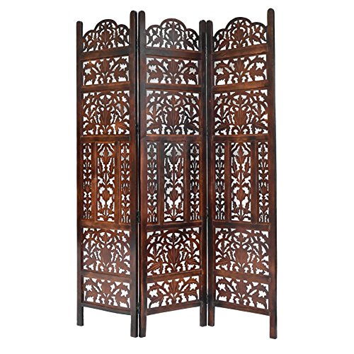 Screen Panel Wood Three (Calloway Mills Home & More 10325G10 Monarch 3 Panel Wood Screen)