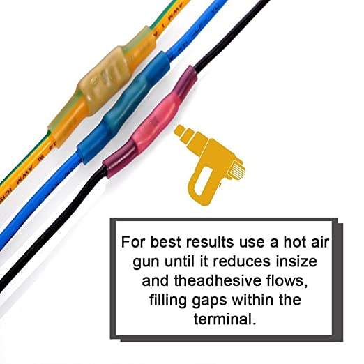 Amazon.com: 180pcs Heat Shrink Butt Connectors, Sopoby Electrical ...