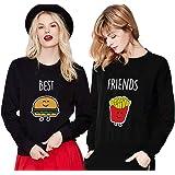 Sudadera Best Friend Mejor Amiga Suéter Soul Sisters 2 Piezas Manga Larga Sweatshirt sin Capucha Cuello…
