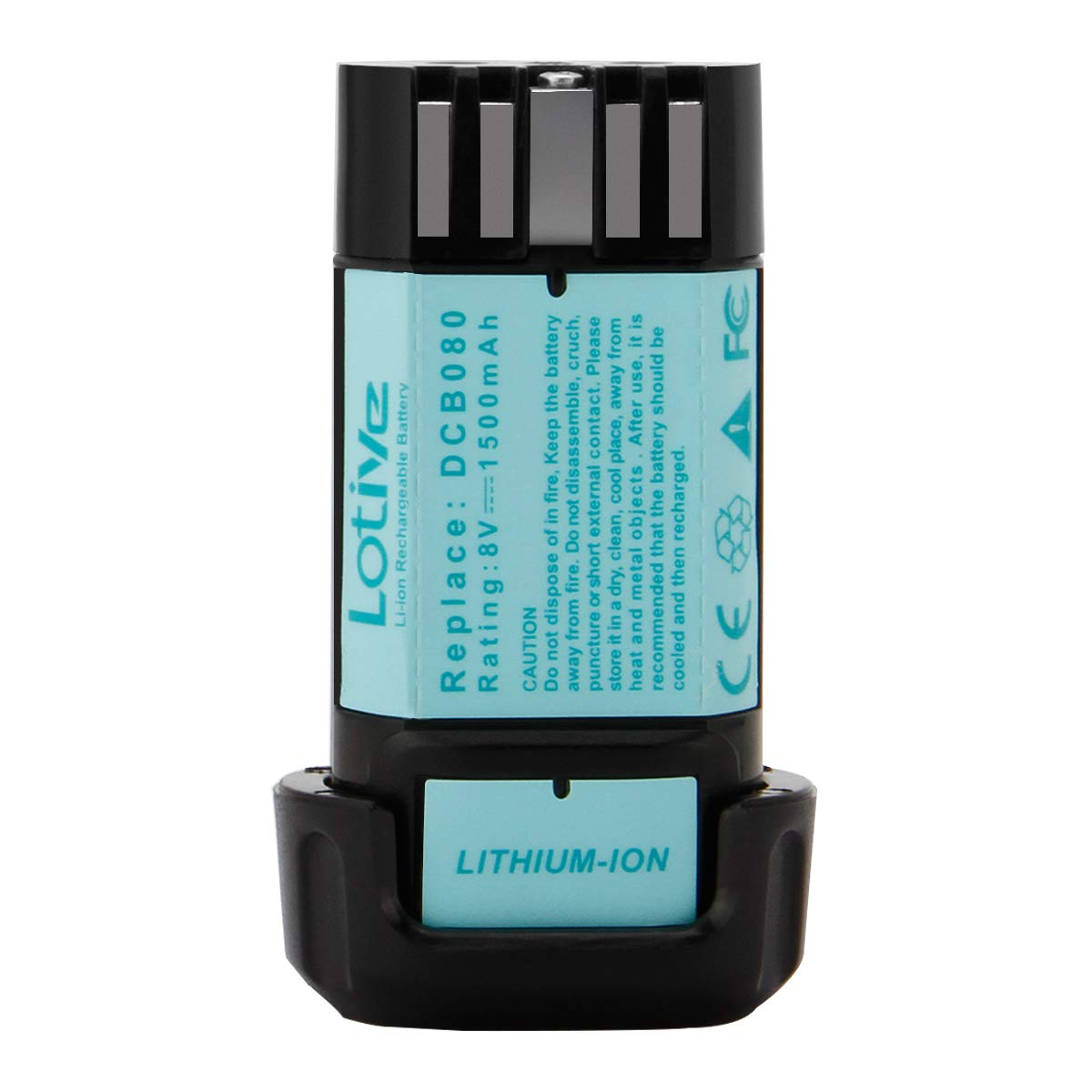 Lotive 1500mAh Battery Compatible With DEWALT DCB080 8-Volt MAX Li-ion Cordless Drill Tool Battery
