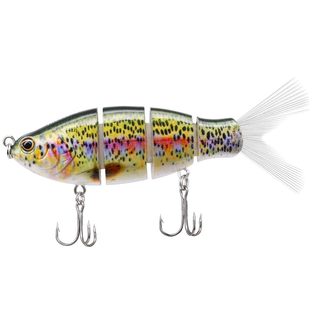 TRUSCEND Fishing Lures Swimbait Bass, 10cm 3.93'' Fishing Lures Crankbait Jointed Trout Swimbait Mustad Hooks (Spotted) by TRUSCEND