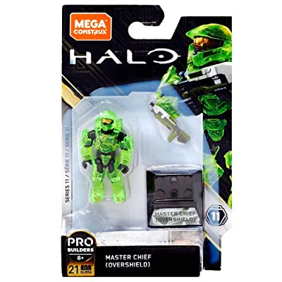 Mega Construx Halo Heroes Probuilder Series 11 Master Chief (Overshield) Figure: Toys & Games