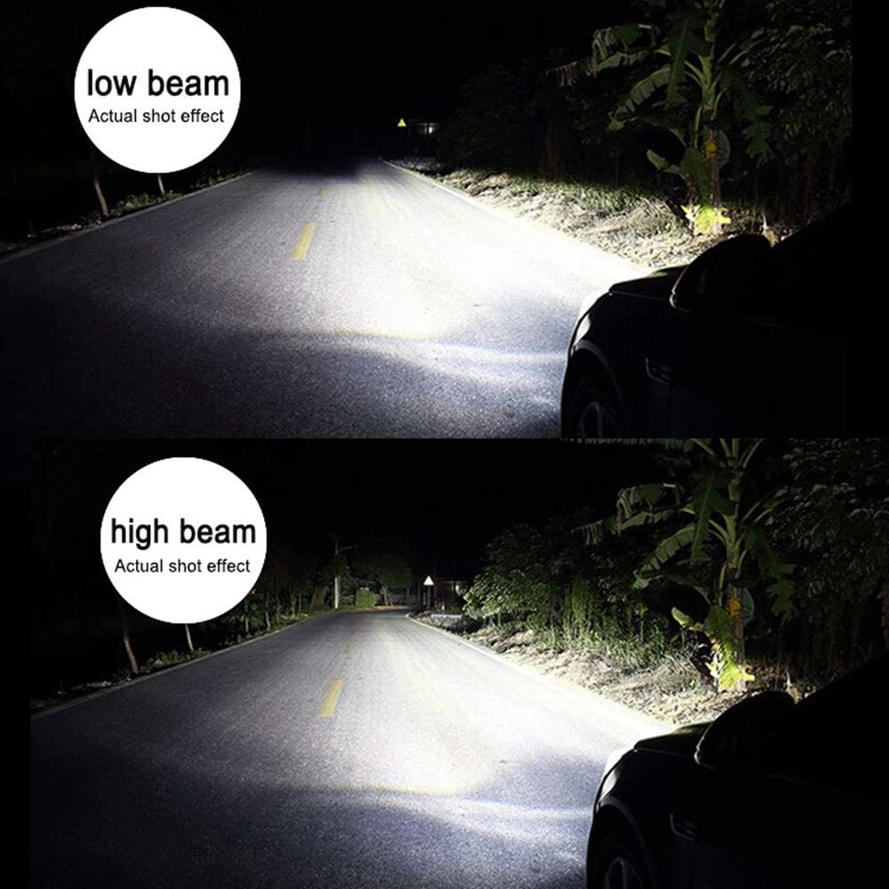Low Beam Kits Headlamps Alla Lighting 10000lm HB3 9005 Headlight Bulbs Extreme Super Bright 6K Xenon White TS-CR Replacement of Halogen High Beam