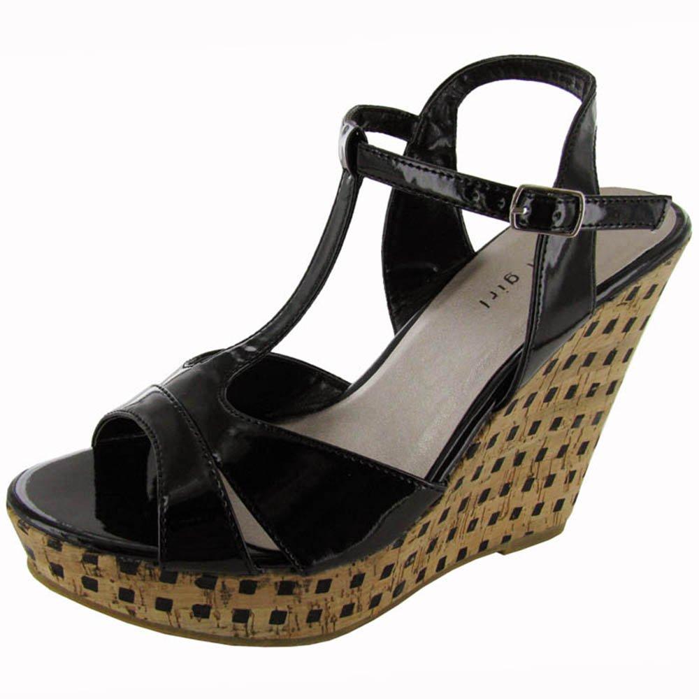Madden Girl Womens 'Wickerrr' Wedge Shoe B009NWXXNM 7.5 B(M) US Black