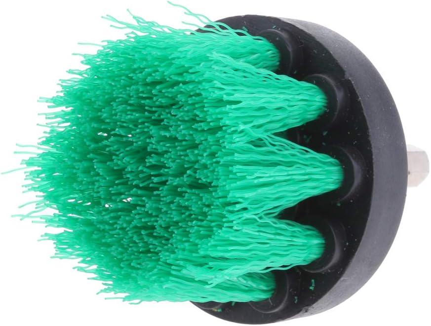 Gr/üne mittlere B/ürste 5inch Bohrb/ürste Bohrmaschine B/ürsten Scheibenb/ürste Reinigungsb/ürste Drill Pinsel Rundb/ürste 5 Zoll 6,35 mm Sechskantschaft 1//4 2 Zoll