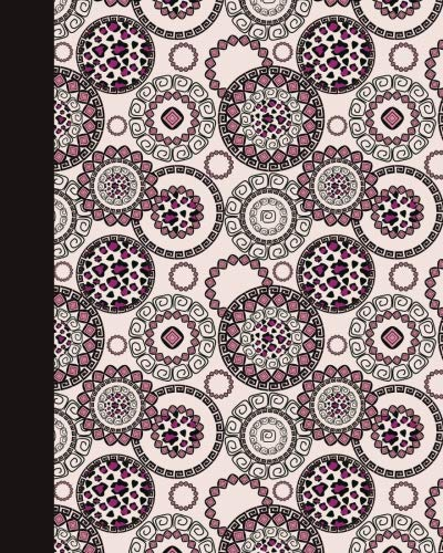 Sketch Journal: Animal Print Mandala (Rose and Pink) 8x10 - Pages are LINED ON THE BOTTOM THIRD with blank space on top (8x10 Mandala Design Sketch Journal Series) by CreateSpace Independent Publishing Platform