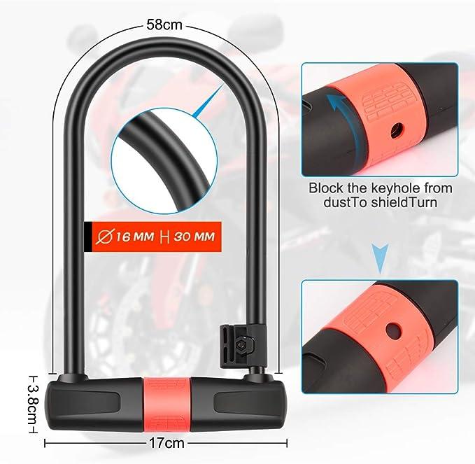 SANVU Diebstahlsicherung Ausdehnung 120 cm hohe Quanlity Durchmesser 10 mm Diebstahlsicherung Fahrrad Schloss Schloss Schloss ist mehr geeignet f/ür Moto All Aperto