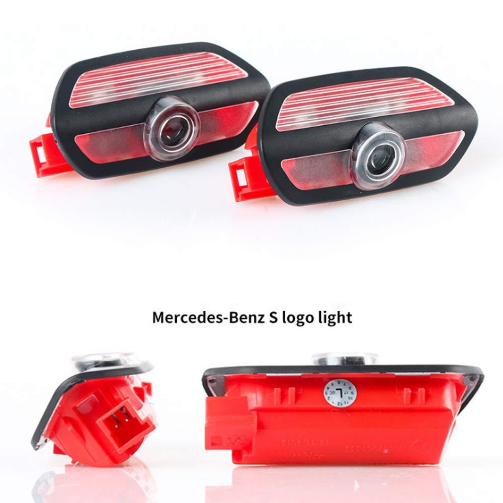 pour 14 mod/èles Maybach Classe S,4pcs W222 15 mod/èles Mercedes-Benz Classe S Feux avertisseurs Ground Ghost Light Lampe de projecteur de Porte Welcome Symbol avec Symbole LED