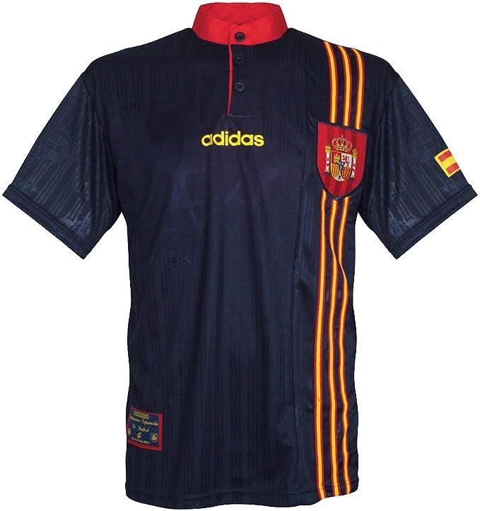 96 – 98 España Away Camiseta, Hombre, Azul: Amazon.es: Deportes y aire libre