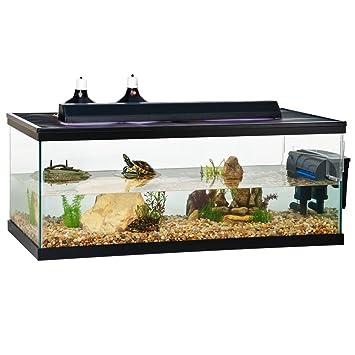 zilla 01201 90 gal turtle tank 48x24x18: .ca: pet supplies
