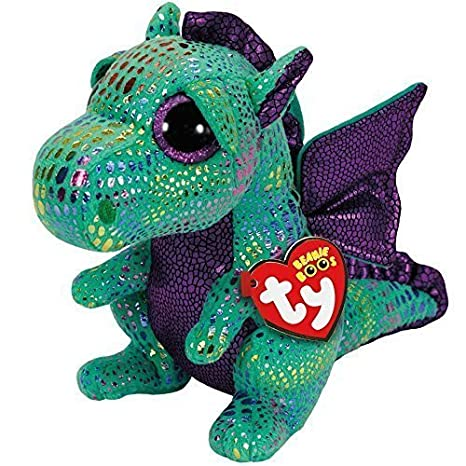 2e8efedba41 Image Unavailable. Image not available for. Color  Cinder Dragon Beanie Boo  Medium ...