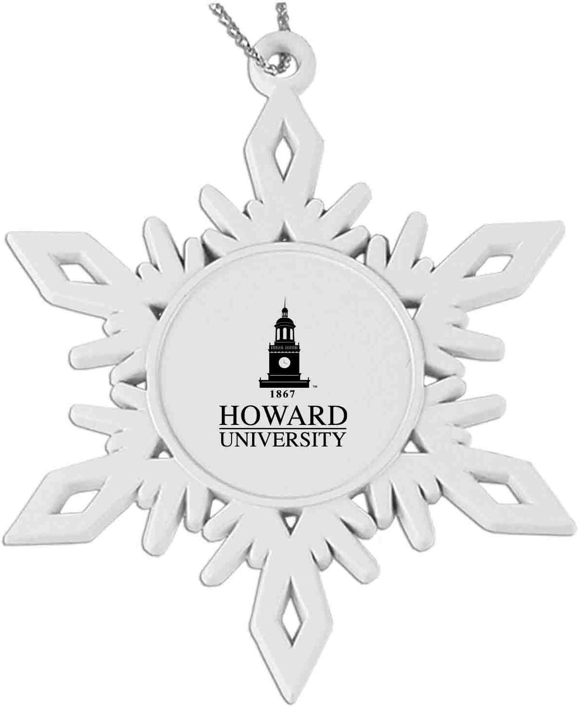 Snowflake Pewter Ornament White Howard University