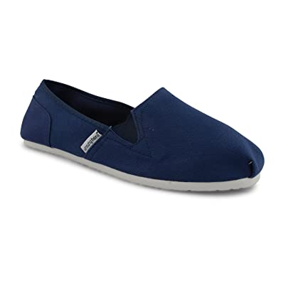 New Mens Unsung Hero Canvas Plimsolls Slip On Plims Espadrilles Trainers UK  6 11