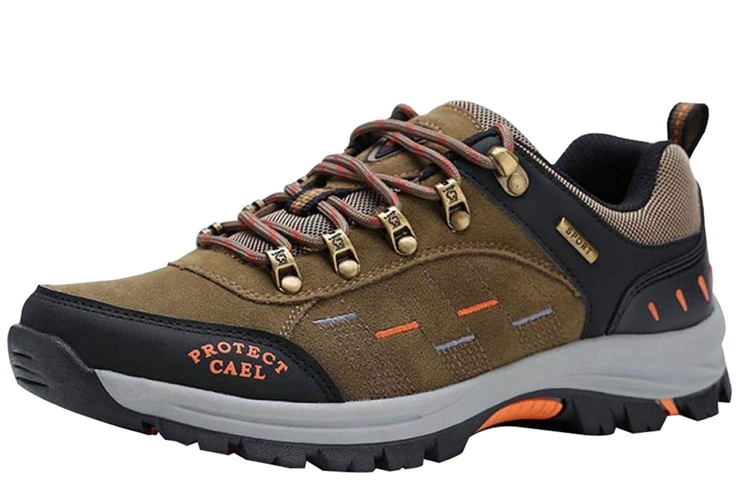 Fuxitoggo Männer Männer Männer Wanderschuhe Stiefel Leder Wanderschuhe Turnschuhe Für Outdoor Trekking Training Beiläufige Arbeit (Farbe   12, Größe   42EU)  b2d045