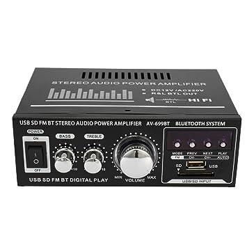 Docooler 12V / 220V Mini 2CH Pantalla LCD de Alta fidelidad de Audio estéreo Amplificador de