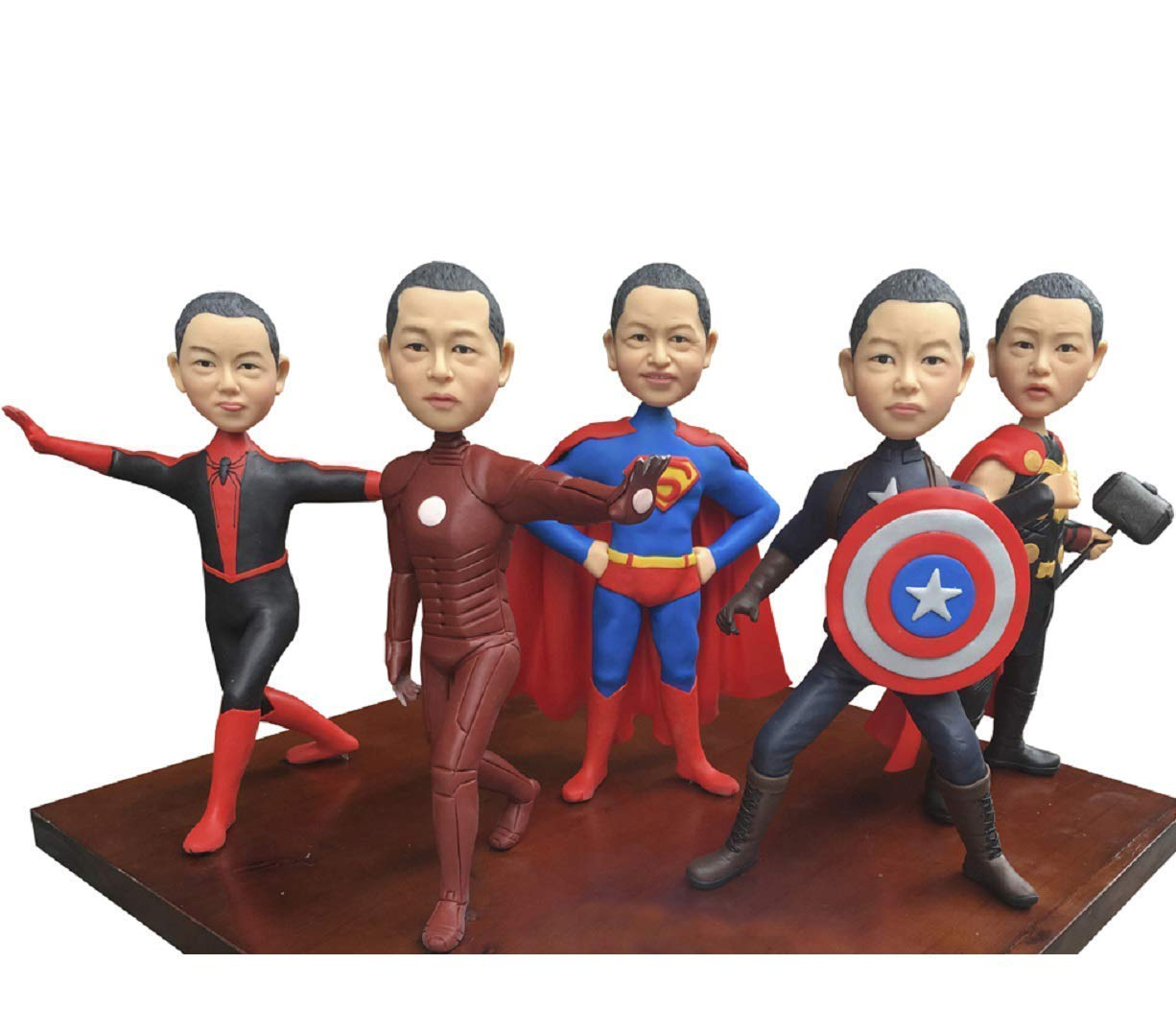 Custom Superhero Bobblehead Personalized Wedding Gifts Based On Customers Photos One Person,DHL Expedited Shipping Service
