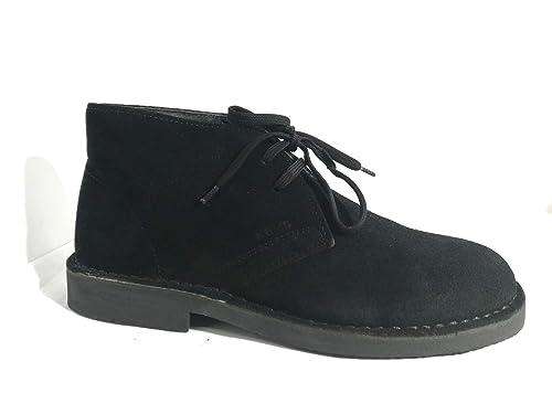 Keys 7288 Polacchine Scarpa in camoscio Donna Black Nero Sneakers Casual  Woman (40 EU) 07ecc24d358