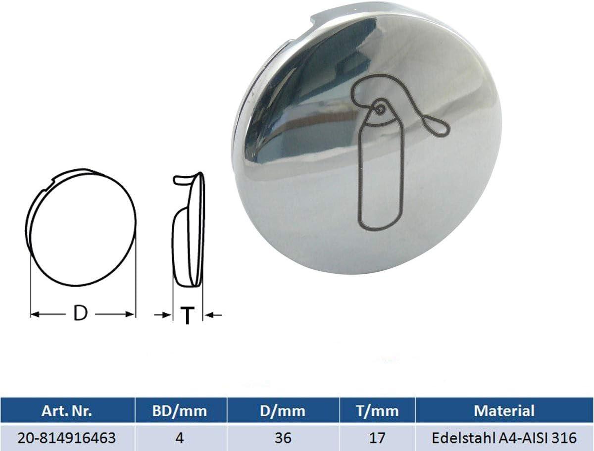 MARETEAM Fenderhalter mit Einhand-Bedienung Edelstahl A4-AISI 316