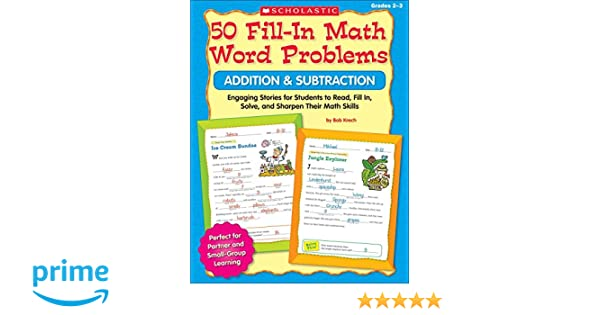 Amazon.com: 50 Fill-in Math Word Problems: Addition & Subtraction ...