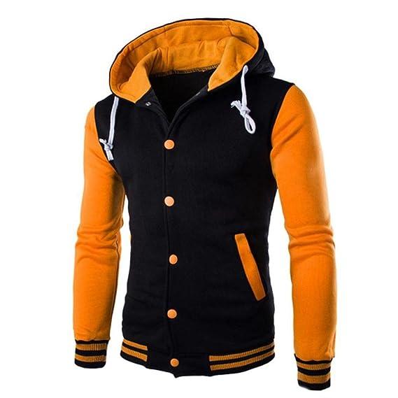 Btruely Herren Pullover Hombres Abrigo Invierno Chaqueta Slim Hoodie Hombres Sudadera para Hombres con Capucha Warm Hooded Sweatshirt Outwear: Amazon.es: ...
