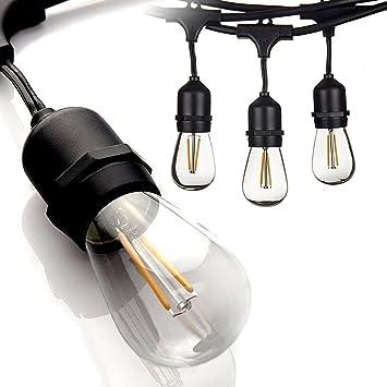 amazon com proxy lighting 48 ft led outdoor string lights 15