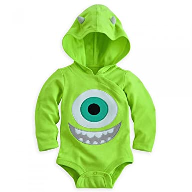 Amazon.com: Disney Store Mike Wazowski Costume Bodysuit Hoodie Hooded Size 0 - 3 Months: Clothing
