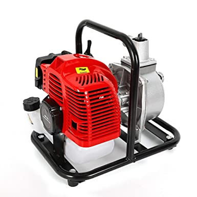 WUPYI2018 43CC Petrol Water Pump,2-Stroke Engine Gasoline Water Transfer Pump,with 15,000L//H Flow Rate