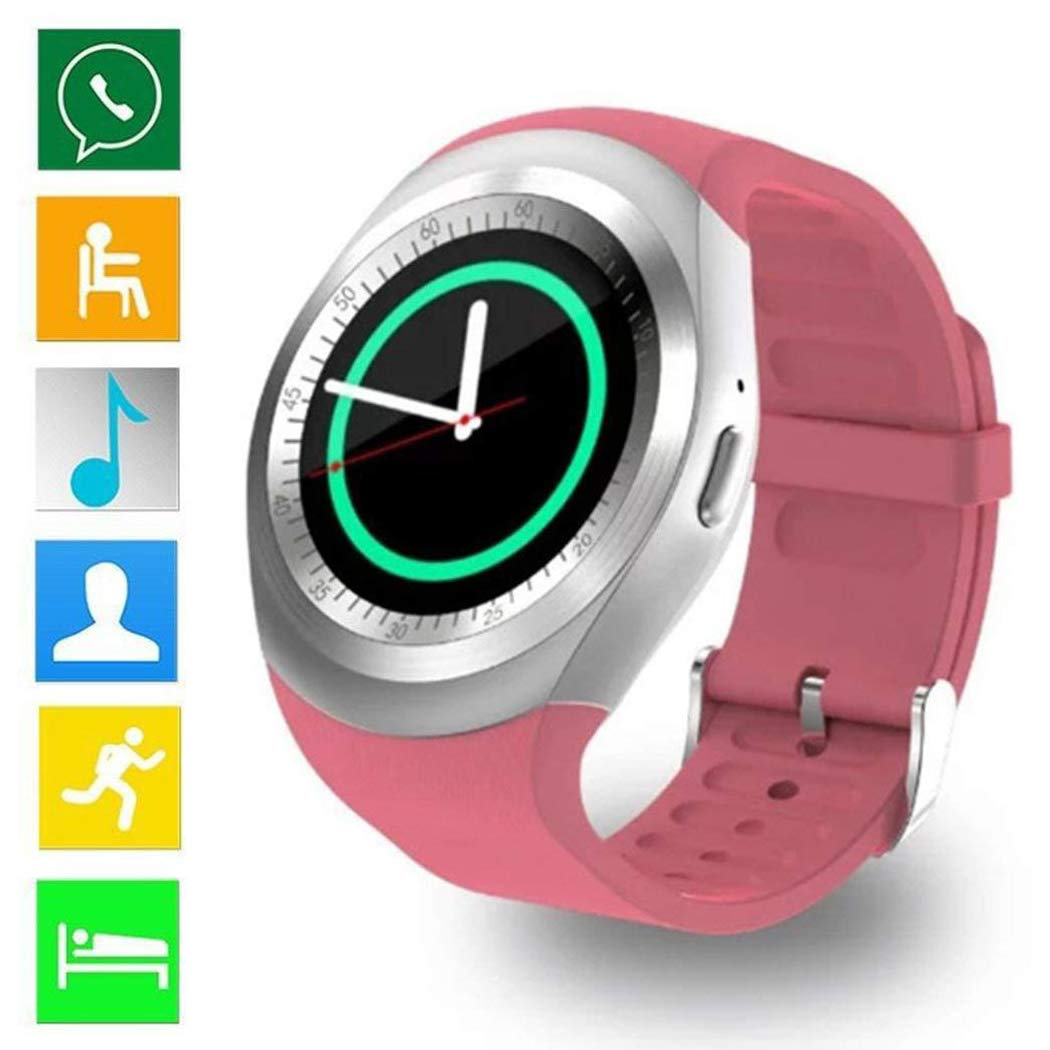 Jingjing1 Children GPS Call Location Finder Locator Tracker Anti Lost Monitor Smartwatch (6-Pink)