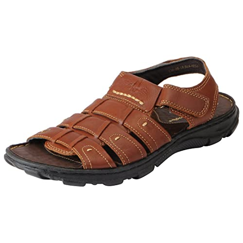 Hush Puppies Men s Genuine Leather Outdoor Sandals  Buy Online at ... 4e59e42417
