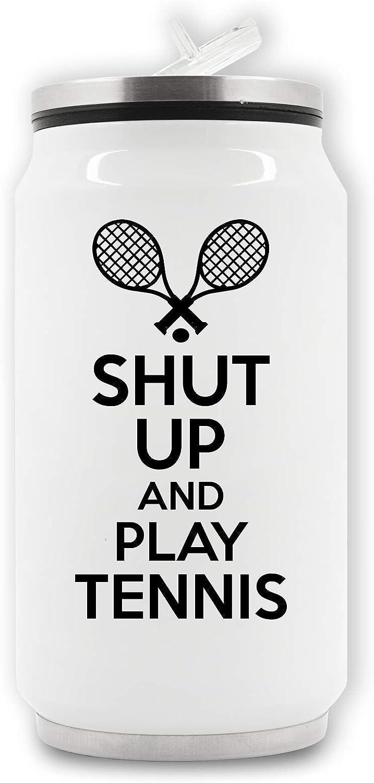 ShutUp And Play Tennis Lattina per Bevande Termiche