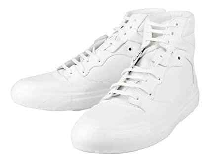 6772f9d0ea6e Image Unavailable. Image not available for. Color  BALENCIAGA White Leather  High-Top Sneakers Shoes Size 13 US ...