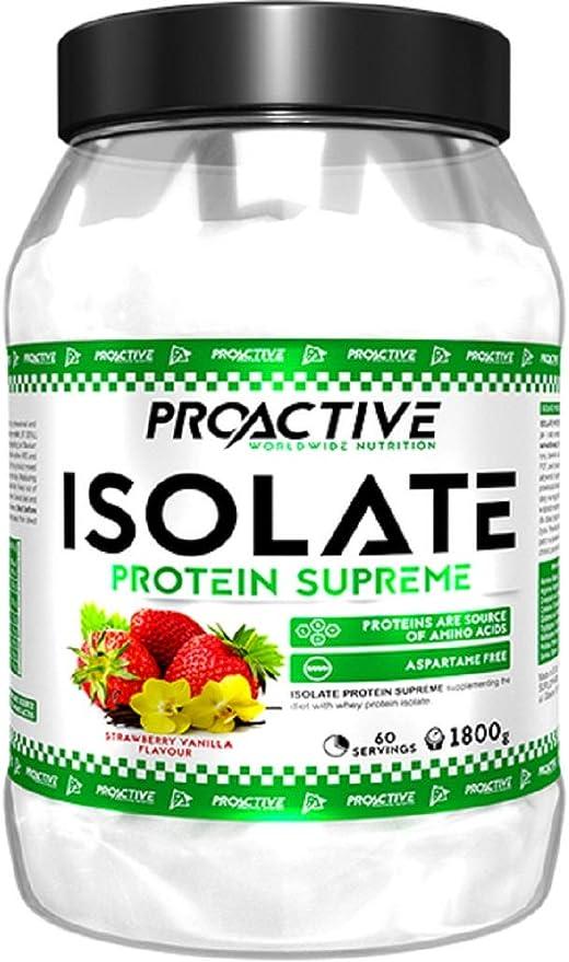 Proactive Aislado Proteína Supreme (fresa-vainilla, 1800 g ...