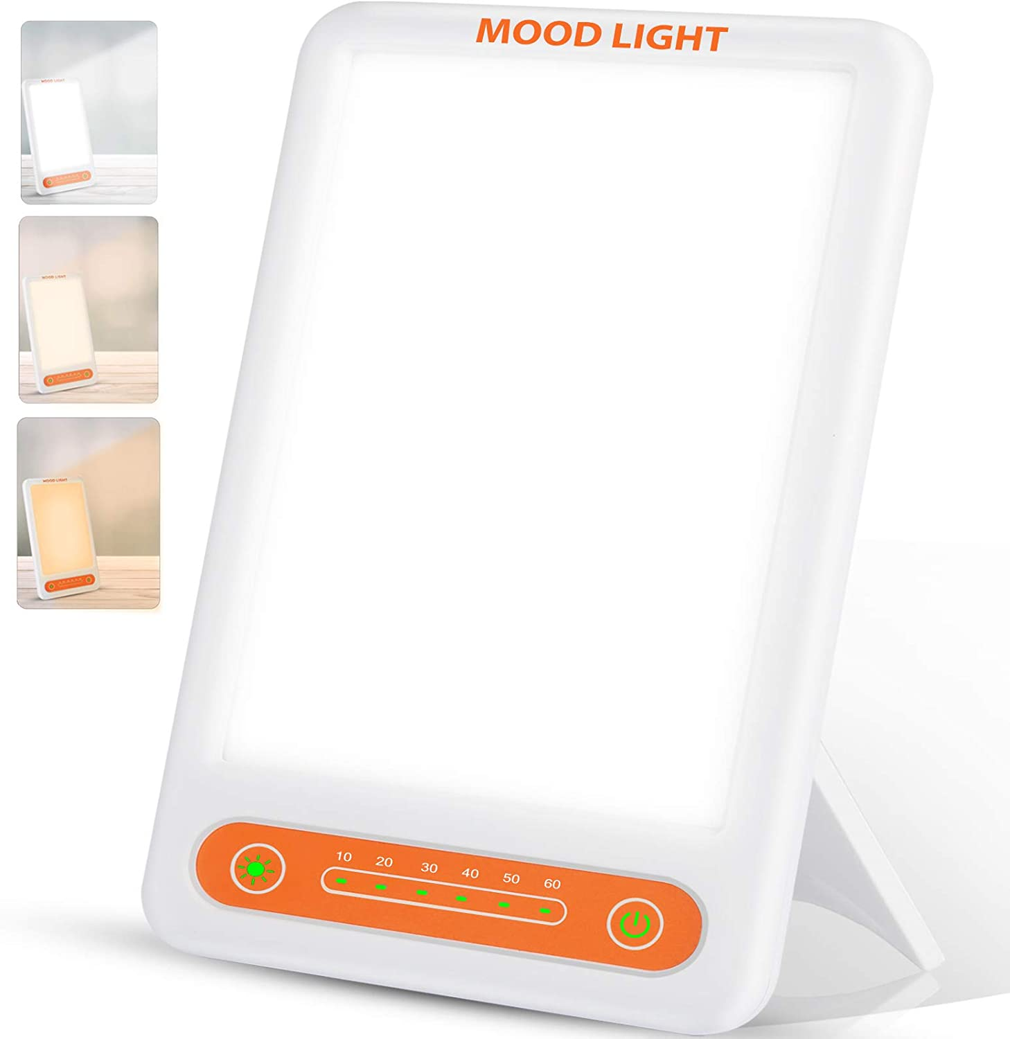 Light Therapy Lamp, Make Up Light UV Free 10000 Lux Sunlight Lamp with 3 Adjustable Colors,Timer Function, Adjustable Brightness Levels, Touch Control, Standing Bracket, Best Gifts for Mother's Day
