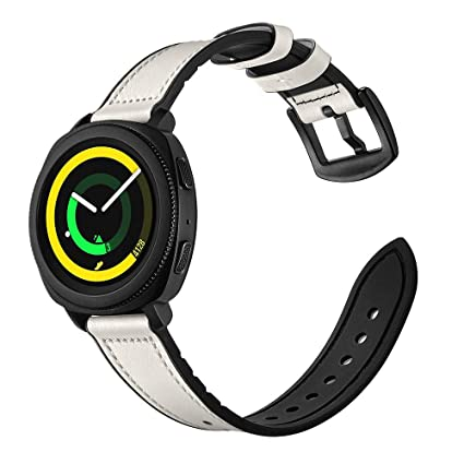 Amazon.com: SIKAI Leather Silicone Band Samsung Gear Sport ...