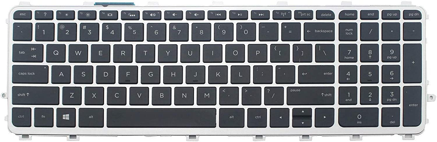 Replacement Backlit Keyboard Compatible with HP Envy 15-J 17-J 15-j000 15-j10015t-j100 15z-j000 17-j000 17t-j000,HP TouchSmart 15-J 15T-J 17-J 17T-J 15-J000 17-J000 P/N:711504-001 711505-001 US Layout