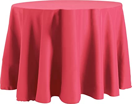 Bright Settings 70 X 120 Inch OVAL Tablecloth, Flame Retardant Basic  Polyester, Hot Pink