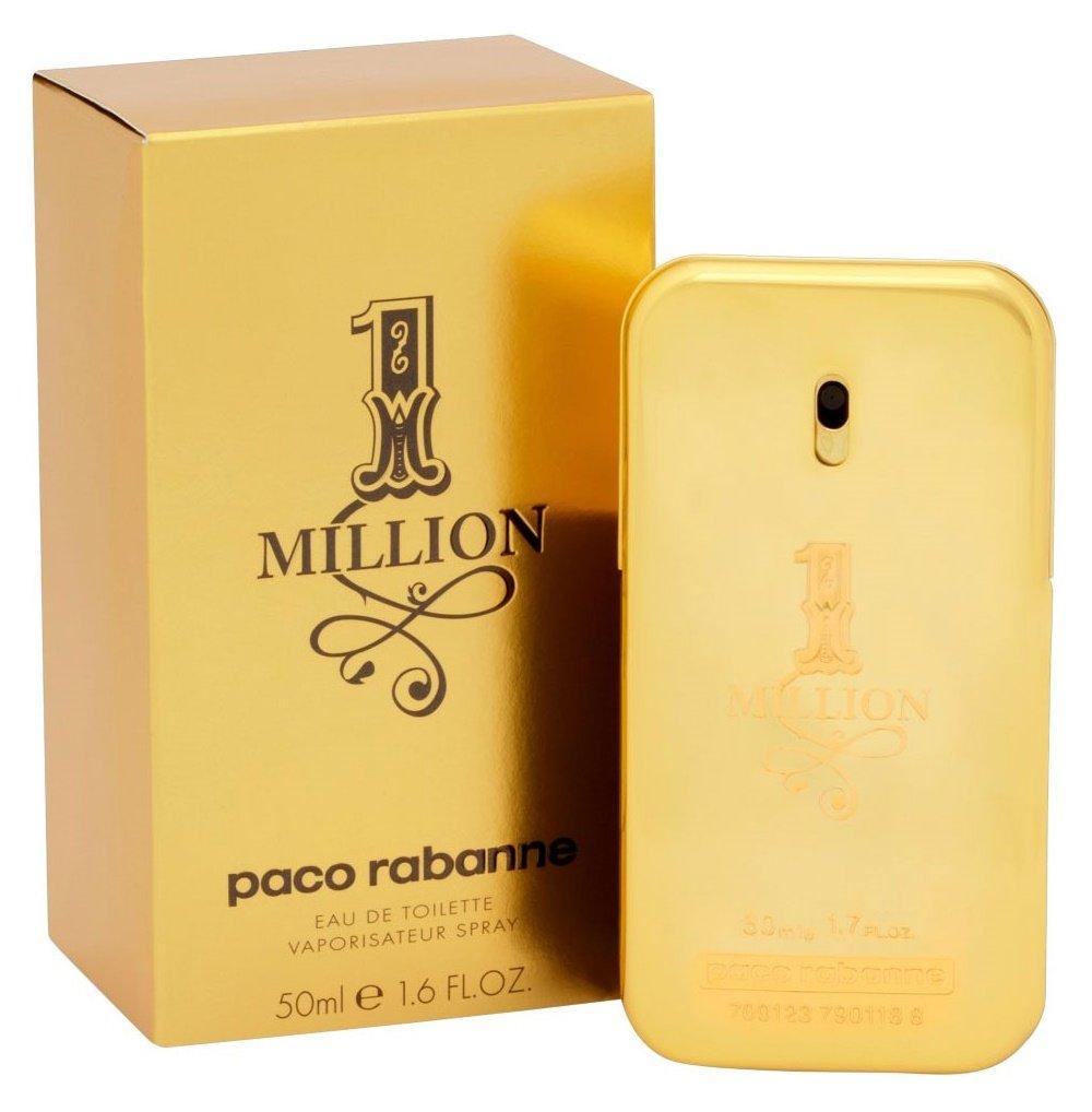 Paco Rabanne 1 Million By Paco Rabanne For Men Eau De Toilette Spray, 1.7-Ounce / 50 Ml