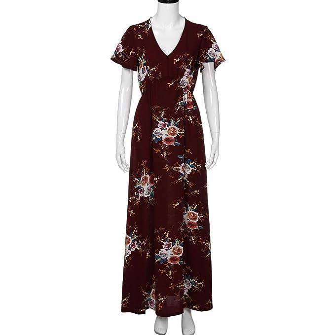 Amazon.com: ShiTou Dress, Large Size/i Boho Floral - Summer Beach Long Evening/Dress: Clothing