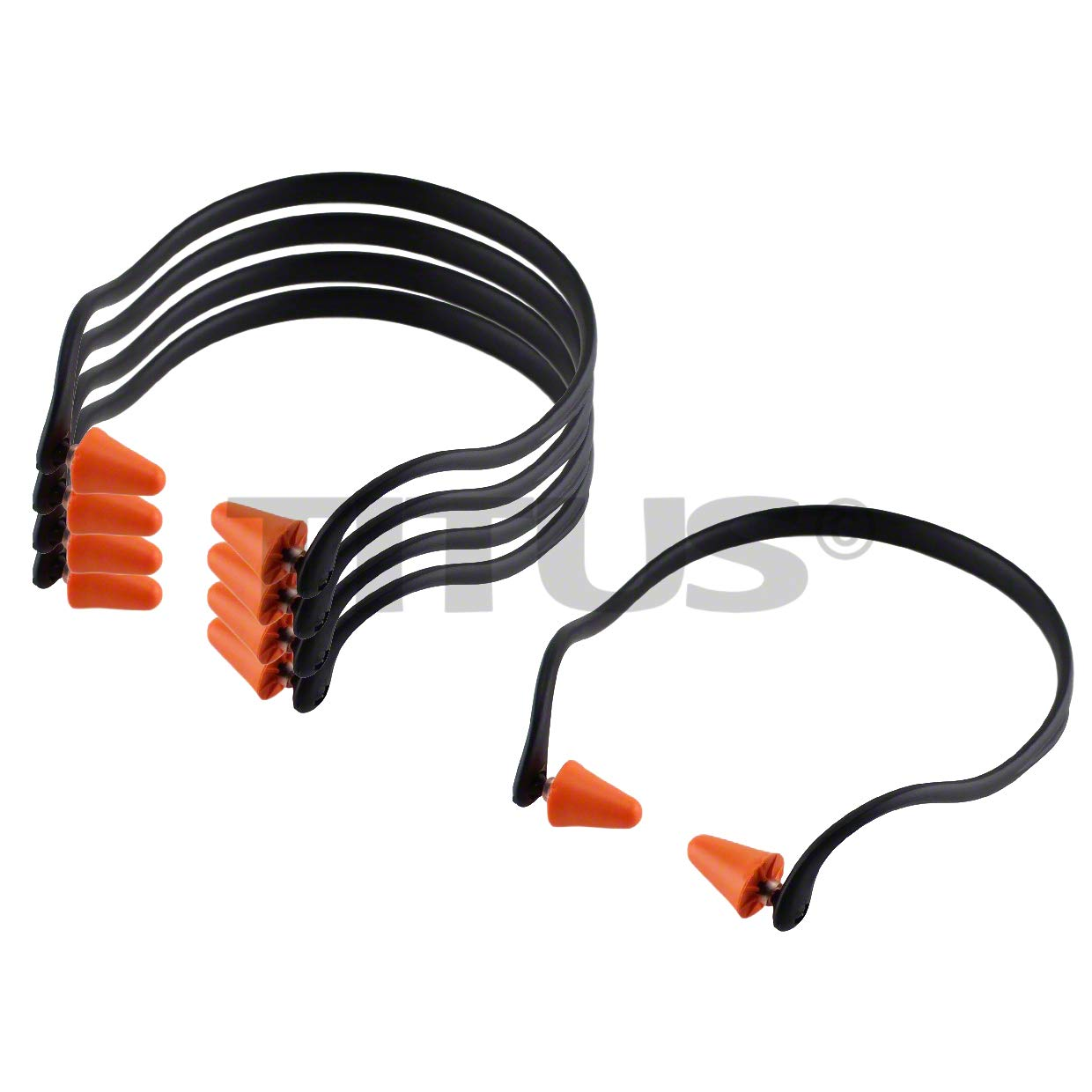 Titus U-Band - Over Ear Reuseable Banded Ear Plugs (25 Decibel, 5 Bands) by Titus