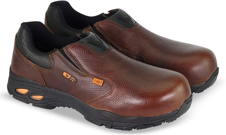 Thorogood Men's 804-4320 I-MET2 Series Composite Safety Toe Slip-On Oxford Shoe, Brown - 7.5 M US
