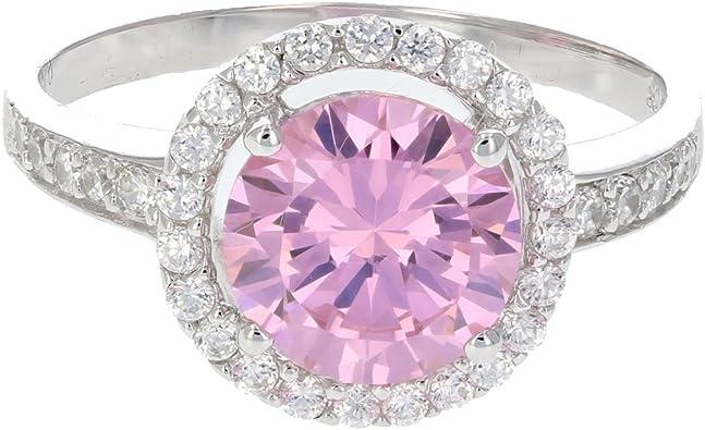 Elegant Shine Jewel 925 Sterling Silver 9 MM Trillion Cubic Zirconia Dainty Ring