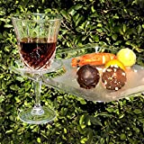 24pc, 9 Inch Stemware Glass Holder Plates, Clear