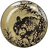 StealStreet SS-UG-TFC-717 Glazed North American Woodlands Design Plate Wolf, 8.25''