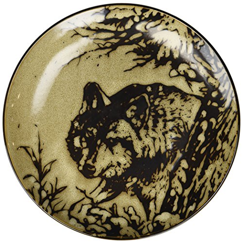 StealStreet SS-UG-TFC-717 Glazed North American Woodlands Design Plate Wolf, 8.25'' by StealStreet
