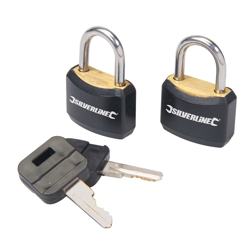 Silverline 663004 Keyed-Alike Luggage Locks 20mm Pack of 2