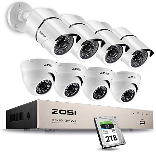 ZOSI Full 1080p HD 8-Channel Video Security System DVR