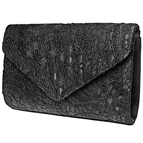 Evening Clutch, Fashion Road Womens Lace Floral Envelope Clutch Purses for Wedding and Party